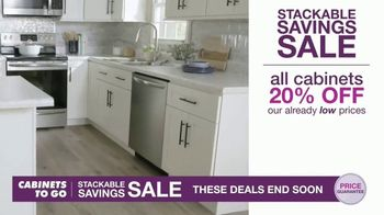 Cabinets To Go Stackable Savings Sale TV Spot, 'Get More Kitchen' - Thumbnail 3