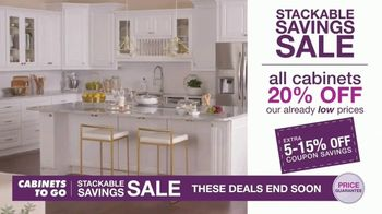 Cabinets To Go Stackable Savings Sale TV Spot, 'Get More Kitchen' - Thumbnail 4