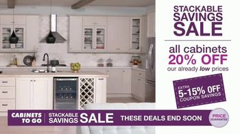 Cabinets To Go Stackable Savings Sale TV Spot, 'Get More Kitchen' - Thumbnail 5