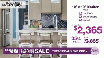 Cabinets To Go Stackable Savings Sale TV Spot, 'Get More Kitchen' - Thumbnail 6