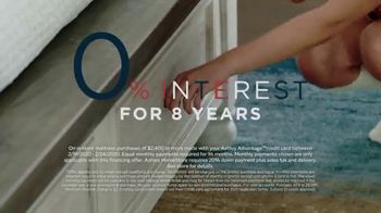 Ashley HomeStore Presidents Day Mattress Sale TV Spot, 'Zero Interest: Next Day Delivery' Song by Midnight Riot - Thumbnail 3