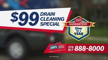ARS Rescue Rooter $99 Drain Cleaning Special TV Spot, 'Clogged Drain' - Thumbnail 7