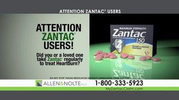 Allen & Nolte, PLLC TV Spot, 'Zantac Lawsuit' - Thumbnail 1