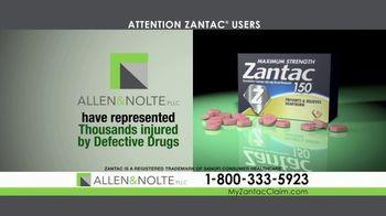 Allen & Nolte, PLLC TV Spot, 'Zantac Lawsuit' - Thumbnail 3