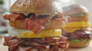 Arby's Brunch Sandwiches TV Spot, 'Brunch Flavors and Dinner Proportions' Song by YOGI