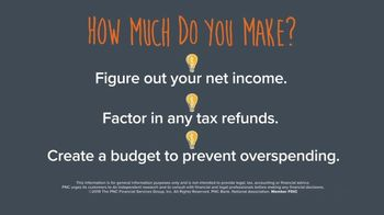 PNC Bank Financial Services TV Spot, 'Smart Sense Tip: Budgeting Your Money: How Much Do You Make' - Thumbnail 6