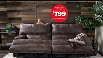 Bob's Discount Furniture TV Spot, 'Gibson Power Reclining Sofa for Only $799' - Thumbnail 8