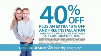 Closets by Design TV Spot, 'Imagine Your Home: 15 Percent Off Installation' - Thumbnail 4