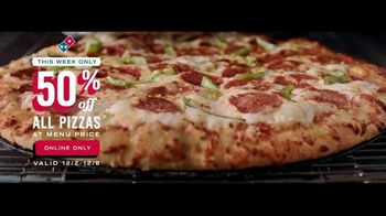 Domino's TV Spot, 'Right Now: 50 Percent Off'