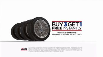 Tire Kingdom TV Spot, 'Buy Three, Get One Free: $50 Mail-In Rebate'
