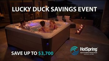 HotSpring Lucky Duck Savings Event TV Spot, 'Endless Fitness Pools' - Thumbnail 1