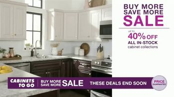 Cabinets To Go Buy More Save More Sale TV Spot, 'Special Financing' - Thumbnail 1