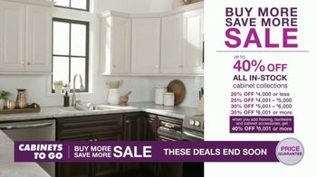 Cabinets To Go Buy More Save More Sale TV Spot, 'Special Financing'