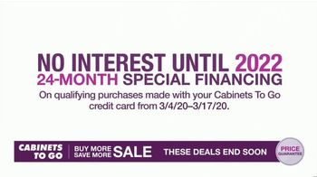 Cabinets To Go Buy More Save More Sale TV Spot, 'Special Financing' - Thumbnail 4