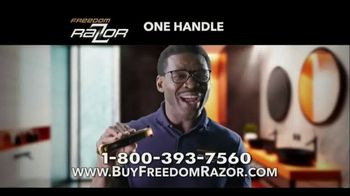Freedom Razor TV Spot, 'Shave, Trim and Edge All With One Handle' Featuring Michael Irvin - 4 commercial airings