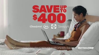 Mattress Firm Semi-Annual Sale TV Spot, 'Save Up to $400'