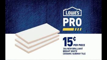 Lowe's TV Spot, 'Pro Services MVP: Ceramic Subway Tile' Featuring Michele Tafoya - Thumbnail 10