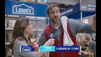 Lowe's TV Spot, 'Pro Services MVP: Ceramic Subway Tile' Featuring Michele Tafoya - Thumbnail 3