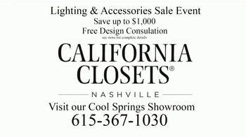 California Closets Lighting & Accessories Sales Event TV Spot, 'Nashville: Solutions' - Thumbnail 10