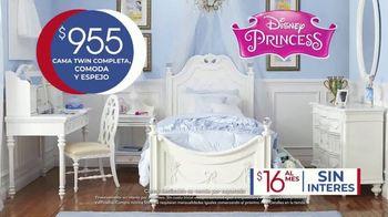 Rooms to Go Kids Venta de Aniversario TV Spot, 'Dormitorio de Disney Princess' canción de Junior Senior [Spanish] - Thumbnail 3
