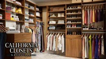 California Closets Lighting & Accessories Sales Event TV Spot, 'Nashville: Organize Your Home' - Thumbnail 2