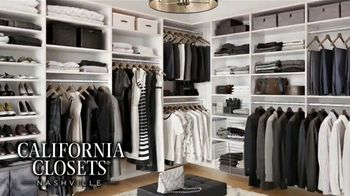 California Closets Lighting & Accessories Sales Event TV Spot, 'Nashville: Organize Your Home' - Thumbnail 4