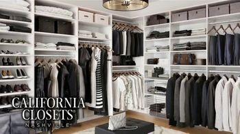 California Closets Lighting & Accessories Sales Event TV Spot, 'Nashville: Organize Your Home' - Thumbnail 5