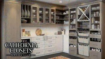 California Closets Lighting & Accessories Sales Event TV Spot, 'Nashville: Organize Your Home' - Thumbnail 6