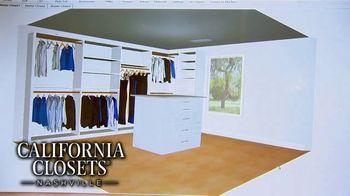 California Closets Lighting & Accessories Sales Event TV Spot, 'Nashville: Organize Your Home' - Thumbnail 9