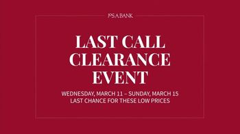 JoS. A. Bank Last Call Clearance Event TV Spot, 'Last Chance: Suits and Shirts' - Thumbnail 3
