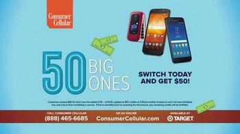 Consumer Cellular TV Spot, 'Super Real: Plans $20+ a Month: 50 Big Ones' - Thumbnail 10