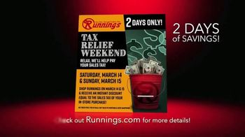 Runnings Tax Relief Sale TV Spot, 'Instant Discount' - Thumbnail 2