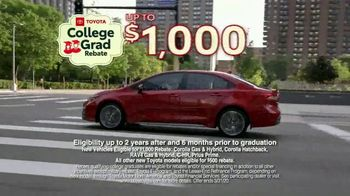Toyota College Grad Rebate TV Spot, 'It's Graduation Time' [T2] - Thumbnail 8