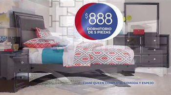 Rooms to Go Venta de Aniversario TV Spot, 'Dormitorio de cinco piezas: $888 dólares' canción de Junior Senior [Spanish] - Thumbnail 3