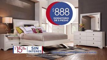 Rooms to Go Venta de Aniversario TV Spot, 'Dormitorio de cinco piezas: $888 dólares' canción de Junior Senior [Spanish] - Thumbnail 4