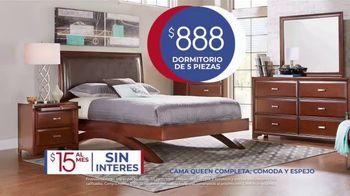 Rooms to Go Venta de Aniversario TV Spot, 'Dormitorio de cinco piezas: $888 dólares' canción de Junior Senior [Spanish] - Thumbnail 5