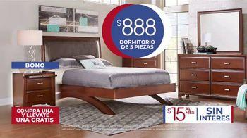 Rooms to Go Venta de Aniversario TV Spot, 'Dormitorio de cinco piezas: $888 dólares' canción de Junior Senior [Spanish] - Thumbnail 6