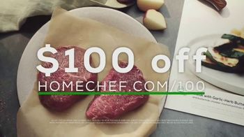 Home Chef TV Spot, 'Culinary Cheat Sheet: $100 Off'