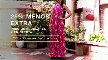Macy's TV Spot, 'Primavera: 25 por ciento menos extra' [Spanish] - Thumbnail 1