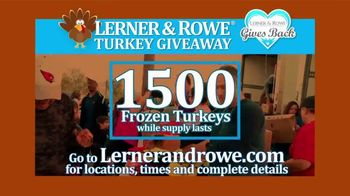 Lerner and Rowe Injury Attorneys TV Spot, 'Thanksgiving Turkey Giveaway' - Thumbnail 4