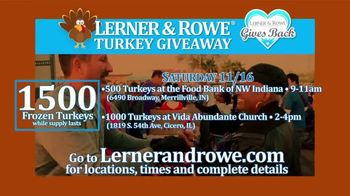 Lerner and Rowe Injury Attorneys TV Spot, 'Thanksgiving Turkey Giveaway' - Thumbnail 5