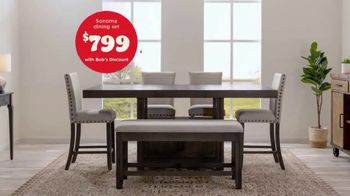 Bob's Discount Furniture TV Spot, 'Rustic Sonoma Dining Set' - Thumbnail 7