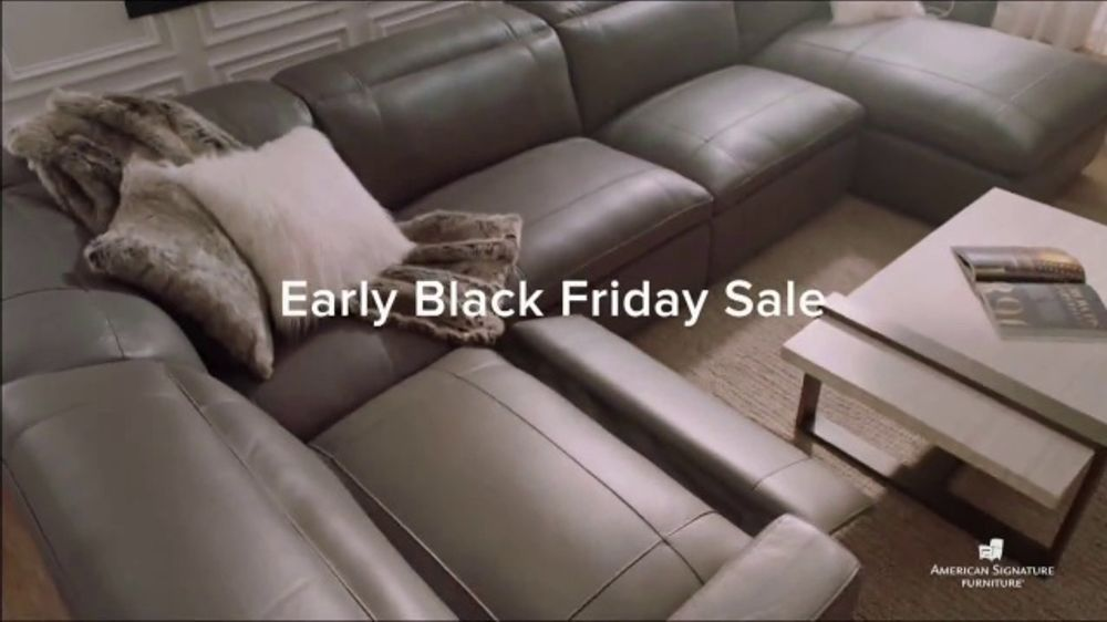 American Signature Furniture Early Black Friday Sale TV Commercial, 'Buy More, Save More'