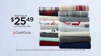 Kohl's Home Sale TV Spot, 'Extra 15 Percent Off, Cuddl Duds Sheets and Air Fryer'