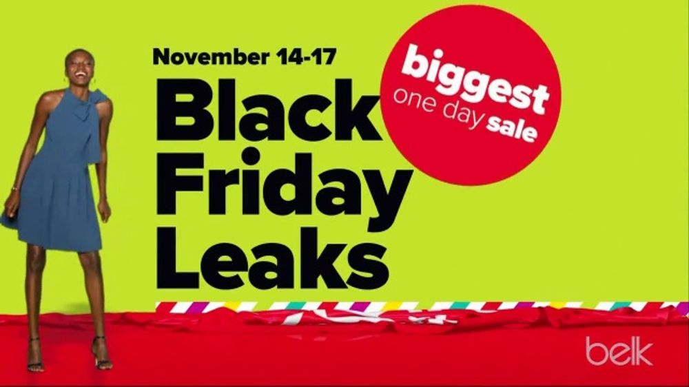 Belk Biggest One Day Sale TV Commercial, 'Black Friday Leaks: Duck Boots, Holiday Trim and Quilt Set