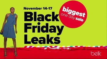Belk Biggest One Day Sale TV Spot, 'Black Friday Leaks: Duck Boots, Holiday Trim and Quilt Sets'