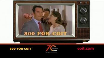 COIT 70 Year Anniversary TV Spot, 'Blast From the Past: New Carpets and Drapes'