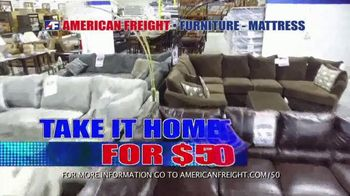 American Freight Tax Time Blowout TV Spot, 'Mattress Sets, Bedrooms and Reclining Furniture' - Thumbnail 2
