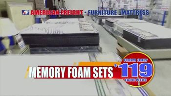 American Freight Tax Time Blowout TV Spot, 'Mattress Sets, Bedrooms and Reclining Furniture' - Thumbnail 3