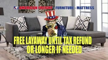 American Freight Tax Time Blowout TV Spot, 'Mattress Sets, Bedrooms and Reclining Furniture' - Thumbnail 8